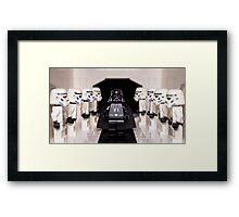 Darth Vader & Stormtroopers Framed Print
