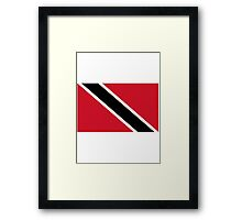 Trinidad and Tobago National Flag T-Shirt Stickers Framed Print