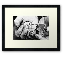 once upon a time I was a real person. Then I was a soldier. Now I am a ghost. Framed Print