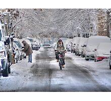 biker snow Photographic Print
