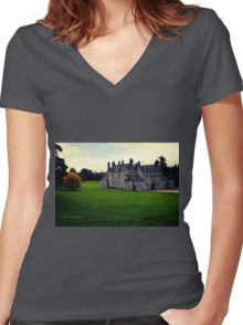 Leith Hall (Huntly, Aberdeenshire, Scotland) Women's Fitted V-Neck T-Shirt