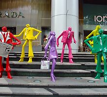 SHOPPERS ON ORCHARD ROAD  by KimMPhotography