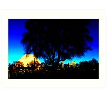 A West Sacramento view of Sacramento using Corel Art Print