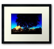 A West Sacramento view of Sacramento using Corel Framed Print