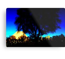 A West Sacramento view of Sacramento using Corel Metal Print