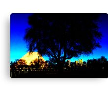 A West Sacramento view of Sacramento using Corel Canvas Print