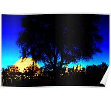 A West Sacramento view of Sacramento using Corel Poster