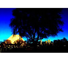 A West Sacramento view of Sacramento using Corel Photographic Print