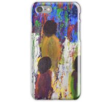 Three Children Walking Home Through the Fields iPhone Case/Skin