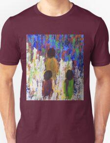 Three Children Walking Home Through the Fields T-Shirt
