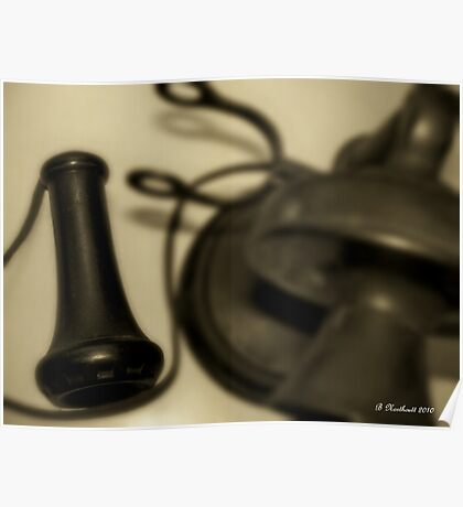 """""""Hello...Hello..."""" - Remembering The Candle Stick Phone Poster"""