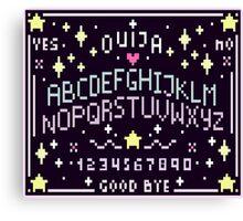 Pixel Ouija Board Canvas Print