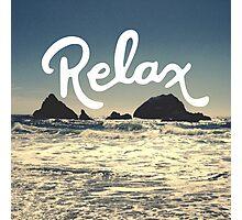 Relax Hipster Beach Typography Tumblr Boho Photo Photographic Print