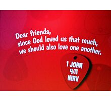 1 John Bible Verse Photographic Print