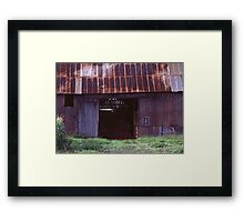An Old Barn in Michigan Framed Print
