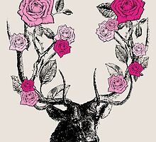 The Stag & Roses by EclecticAtHeART