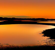 Sandbanks in silhouette by GeoffSporne