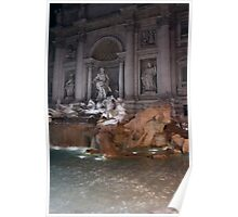 trevi fountain - italy Poster