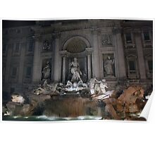 trevi fountain II - italy Poster