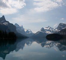 Canadian Rockies by Spirit Island by Carol Bock