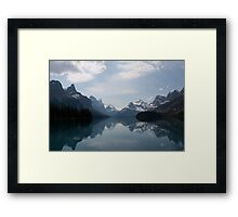 Canadian Rockies by Spirit Island Framed Print