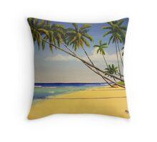 Bajan Beach Bungalow, Barbados, West Indies Throw Pillow