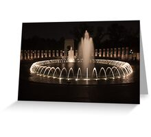 WWII Memorial in DC Greeting Card