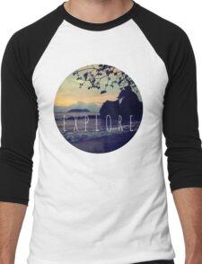 Explore Costa Rican Beach Ocean Tumblr Pastel Quote Print Men's Baseball ¾ T-Shirt