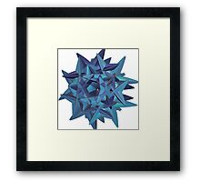BLUE-GREEN WICKED # 2 Framed Print