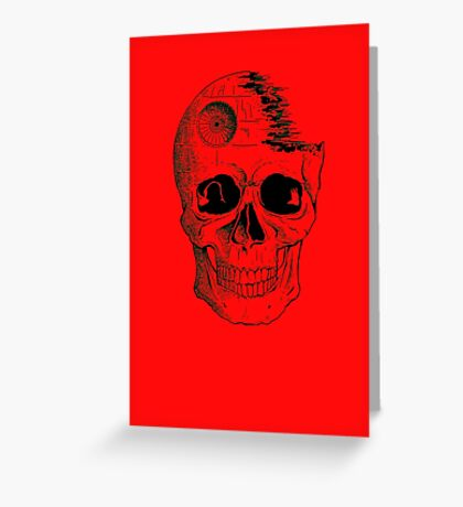 Imperial Death Star Skull Greeting Card