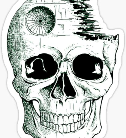 Imperial Death Star Skull Sticker