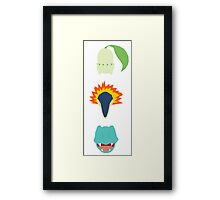 Minimalist Johto Trio Framed Print