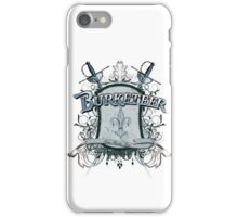 Official Burketeer Logo Badge Blue iPhone Case/Skin