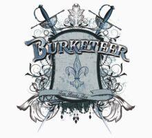 Official Burketeer Logo Badge Blue by burketeer