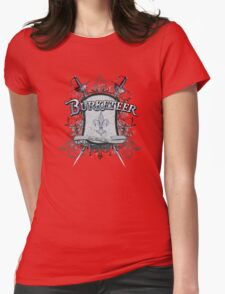 Official Burketeer Logo Badge Blue Womens Fitted T-Shirt
