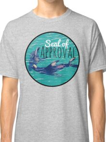 Seal of Approval Meme Cute Blue Funny Print Classic T-Shirt