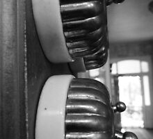 Light Switches Hallway, Black and White by RainbowWomanTas