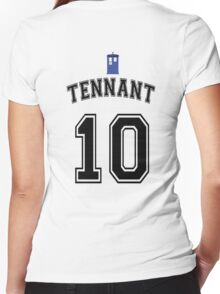 MY Doctor is David Tennant Women's Fitted V-Neck T-Shirt