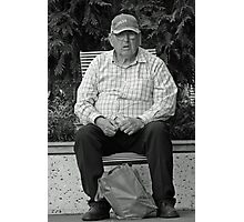 Pension Day Shopper Photographic Print