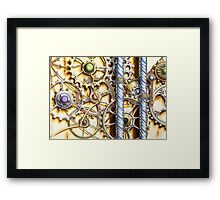 Cogs #4 - coloured pencil Framed Print