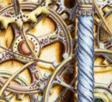 Cogs #4 - coloured pencil Sticker