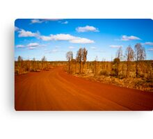 Desert Road - Outback Australia Canvas Print