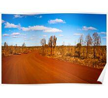 Desert Road - Outback Australia Poster