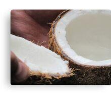 Fresh Luscious Tasting  Coconut Canvas Print