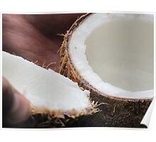 Fresh Luscious Tasting  Coconut Poster