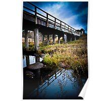Rustic Bridge - Spanning a creek in regional NSW Poster