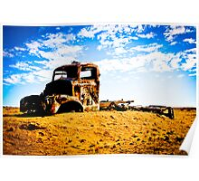Old Rusted Semi - Outback South Australia Poster