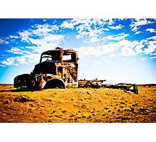 Old Rusted Semi - Outback South Australia Photographic Print