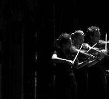 3 Violins by Alfredo Estrella
