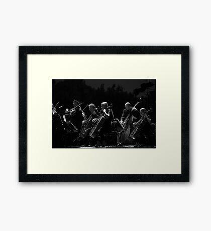 Chelo & Base Framed Print